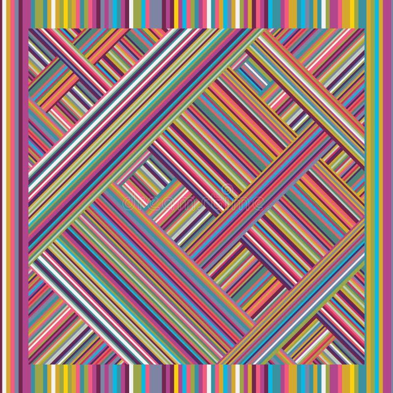 Żyłkowany bezszwowy wzór barwioni lampasy przeplatający royalty ilustracja
