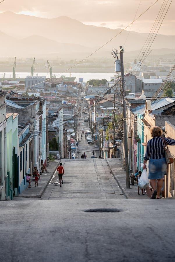 Życia codziennego uliczny położenie przy zmierzchem fotografia royalty free