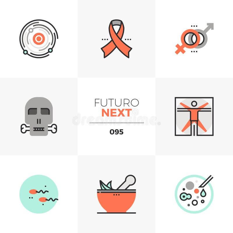 Życia Ludzkiego Futuro Następne ikony royalty ilustracja