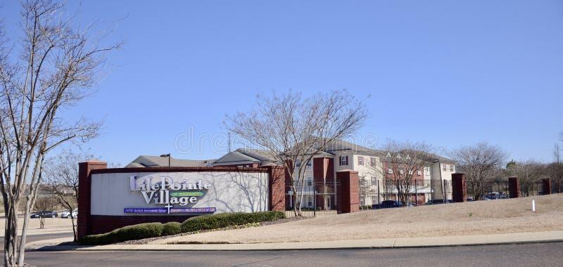 Życia Pointe wioski kondominiów wiary Zasadzony utrzymanie, Hernando, Mississippi zdjęcia stock