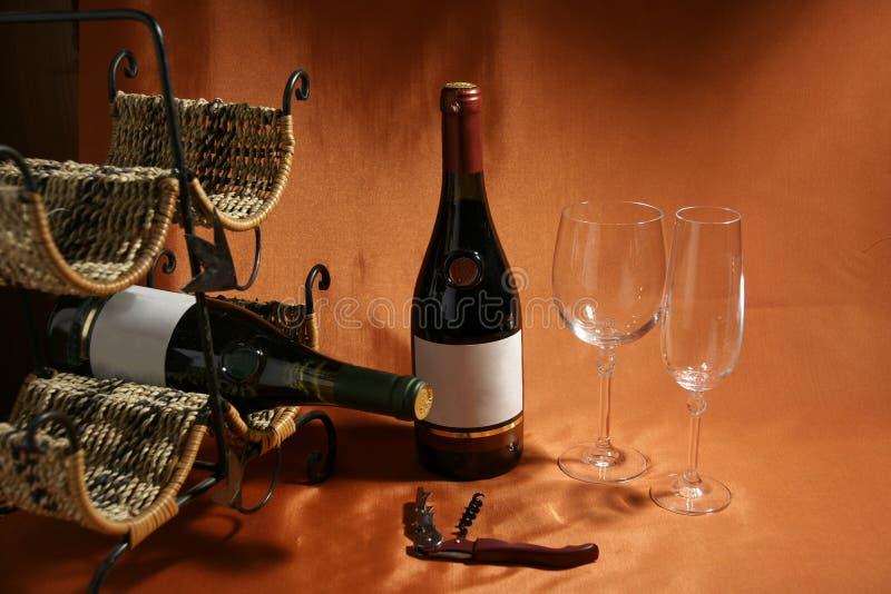 życia wciąż tematu wino obraz stock