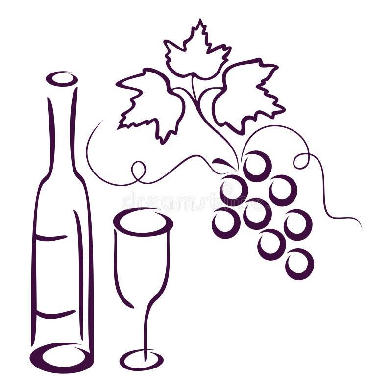 życia wciąż winograd ilustracja wektor