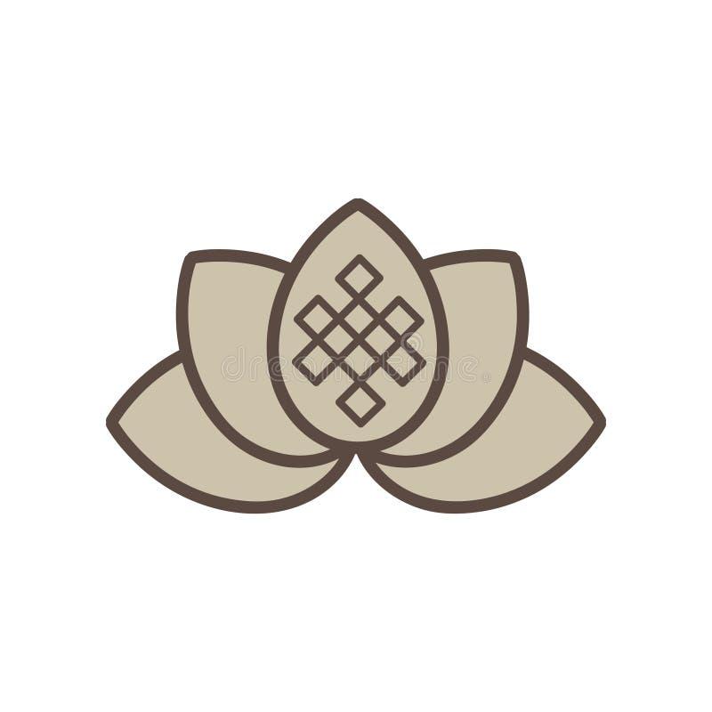 Życie ścieżka, lotosowy kwiat zdjęcie stock