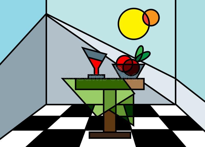 życie ciągle abstrakcyjne royalty ilustracja