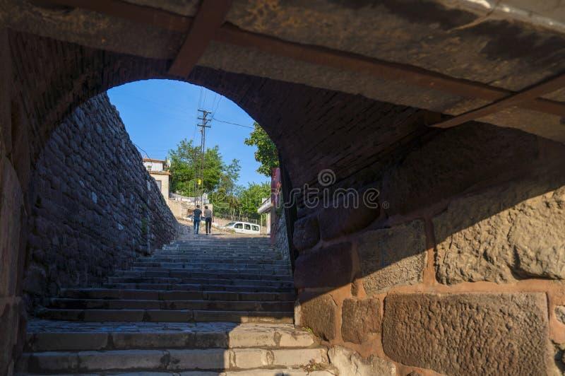 Życie codzienne widok od grodowej bramy wokoło Ankara kasztelu obraz stock