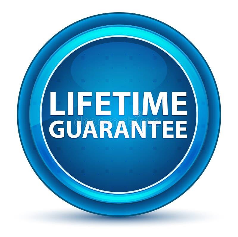Życie gwarancji gałki ocznej Round Błękitny guzik ilustracji