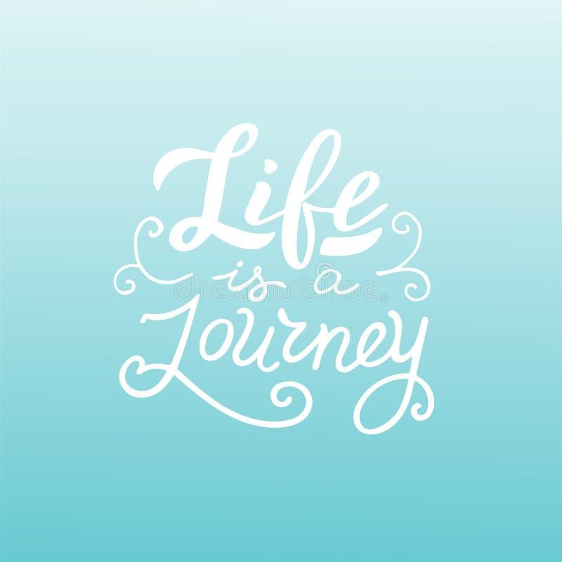 Życie jest podróży wyceną Modny literowanie plakat przygody t?a lornetek ??dkowata poj?cia drabiny woda ilustracja wektor