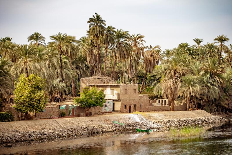 Życie na Rzecznym Nil blisko Luxor Thebes Egipt fotografia stock