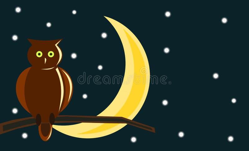 życie noc ilustracji