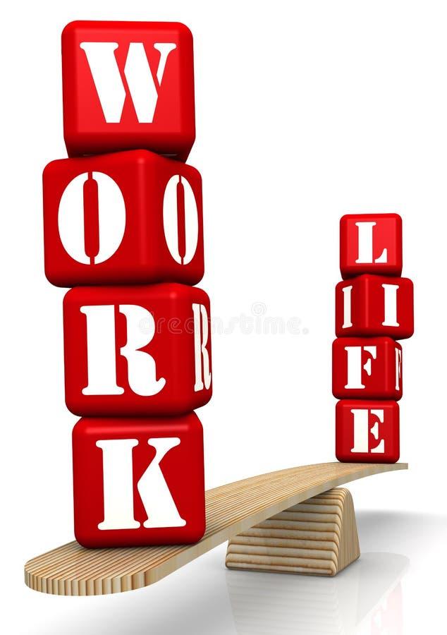 Życie równowaga Słowa na skalach ilustracji