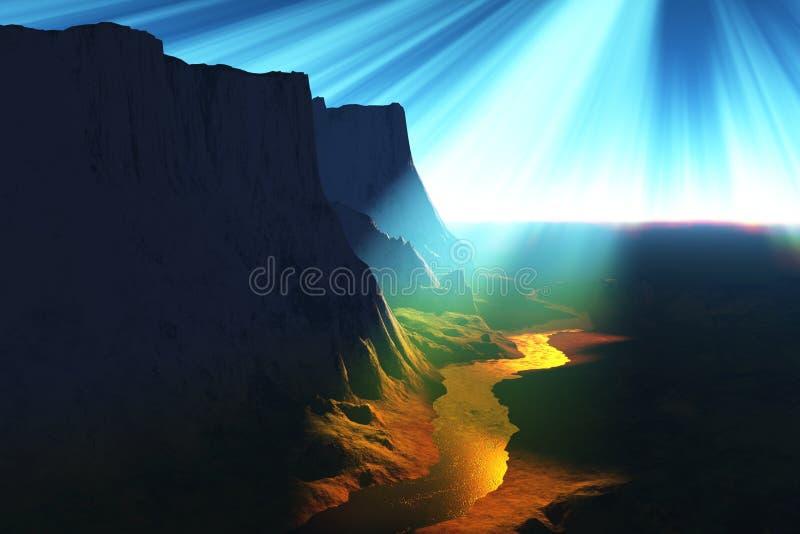 życie rzeki ilustracji