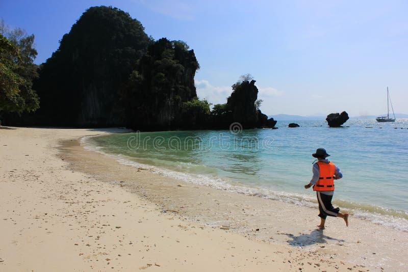Życie strażnika bieg wzdłuż zatoki patroluje dla ochrony obrazy stock