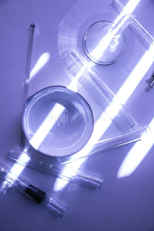 Życie substancji chemicznej laboranckie kolby i próbne tubki zdjęcia royalty free
