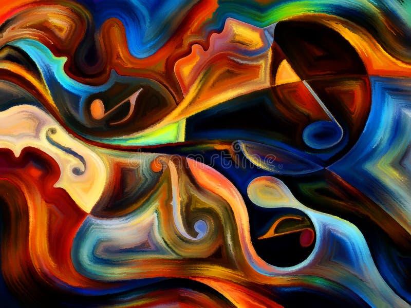 życie wewnętrzna muzyka royalty ilustracja