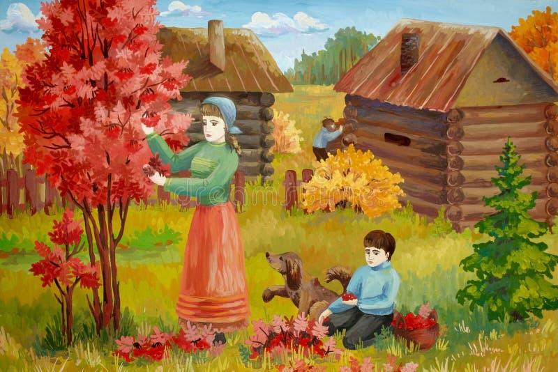 życie wiejski royalty ilustracja