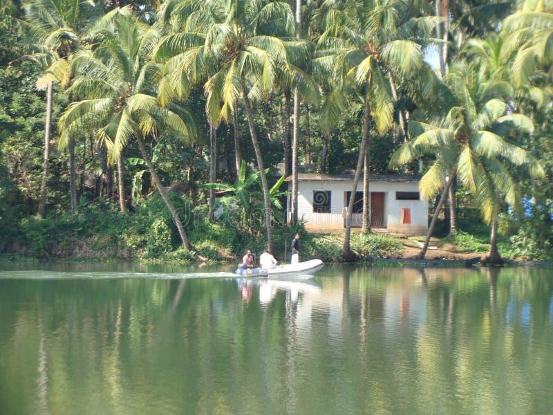 Życie wzdłuż rzek India fotografia royalty free