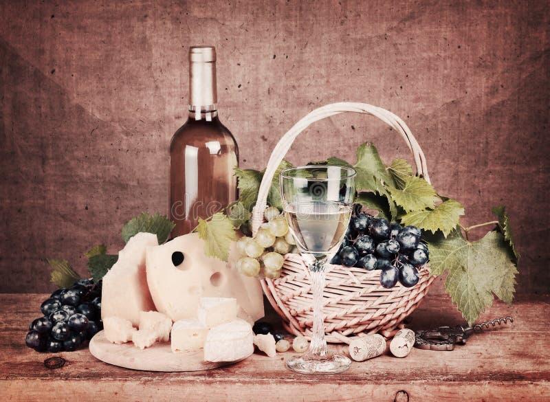 Życie z białym winem obrazy royalty free
