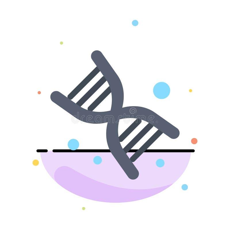 Życiorys, Dna, genetyka, technologia koloru ikony Abstrakcjonistyczny Płaski szablon ilustracji