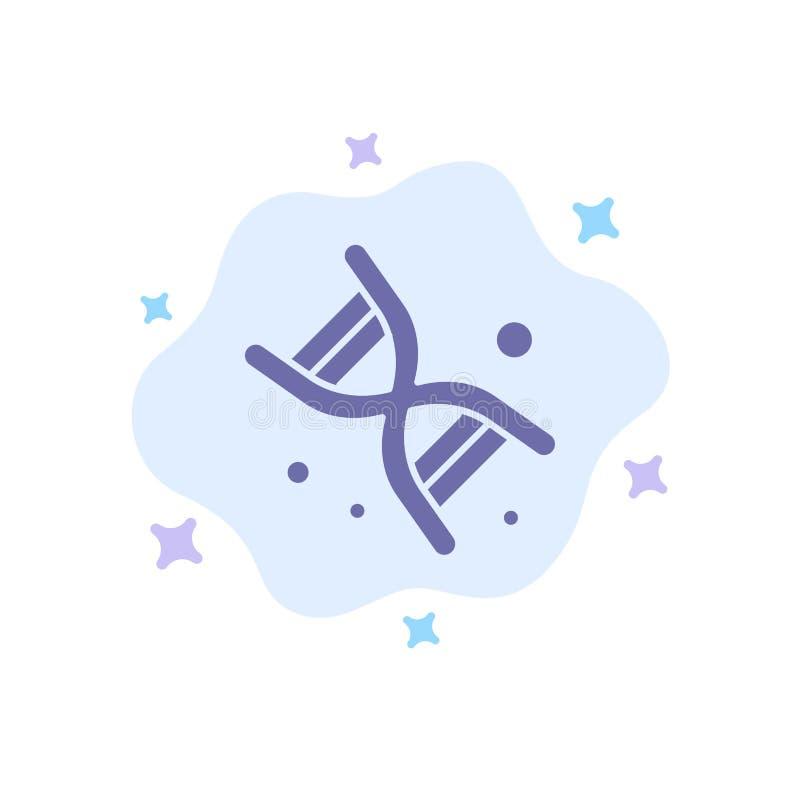 Życiorys, Dna, genetyka, technologii Błękitna ikona na abstrakt chmury tle ilustracja wektor
