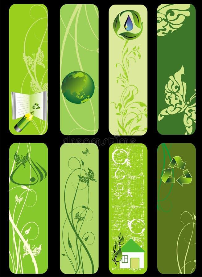 życiorys eco zieleni set royalty ilustracja