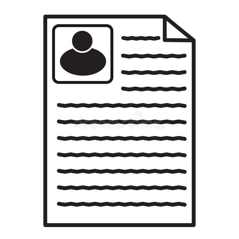 Życiorys ikona na białym tle Mieszkanie styl życiorys ikona dla twój strona internetowa projekta, logo, app, UI kontraktacyjny do ilustracja wektor
