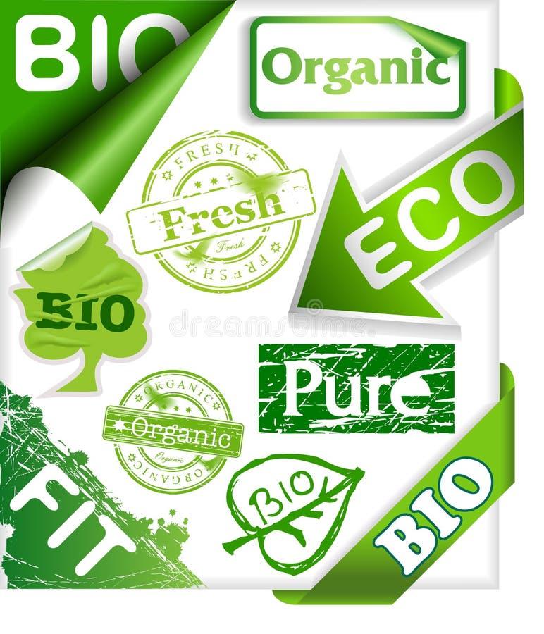 życiorys organicznie faborki ustawiający znaczków majchery zdjęcie stock