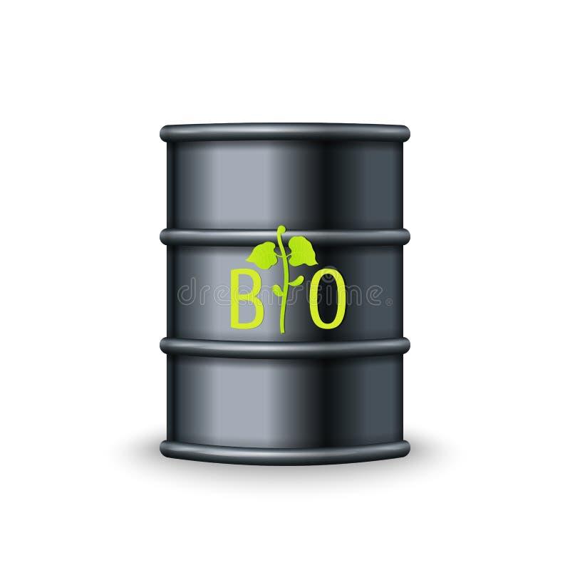 Życiorys paliwo baryłki wektor alternatywnej energii zieleń ilustracja wektor