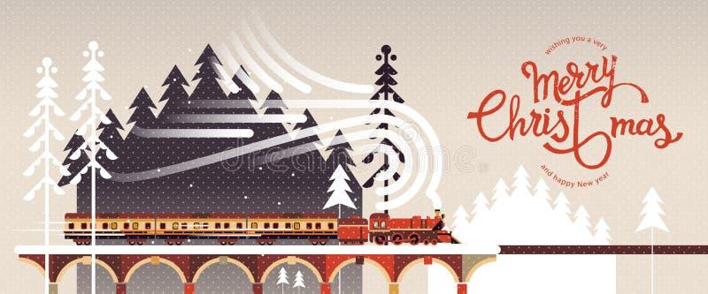 Życzący ci bardzo Wesoło boże narodzenia i Szczęśliwego nowego roku Zimy tło i kaligrafia również zwrócić corel ilustracji wektor royalty ilustracja