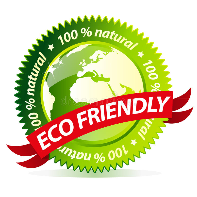 życzliwa eco etykietka royalty ilustracja