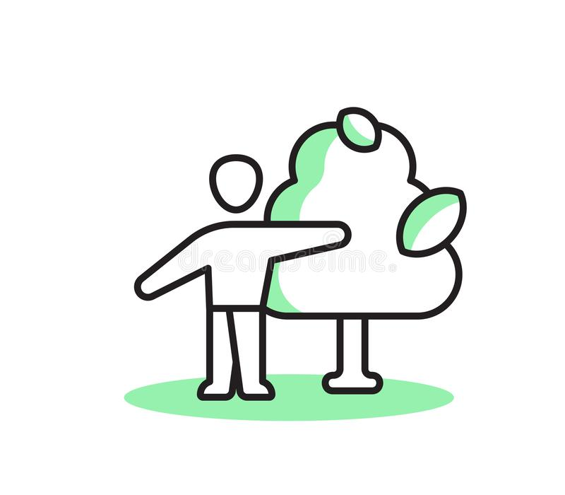 Życzliwa osoba mężczyzna drzewo