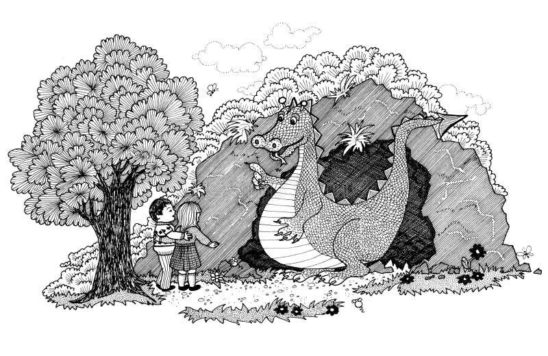 Życzliwy smok ilustracji