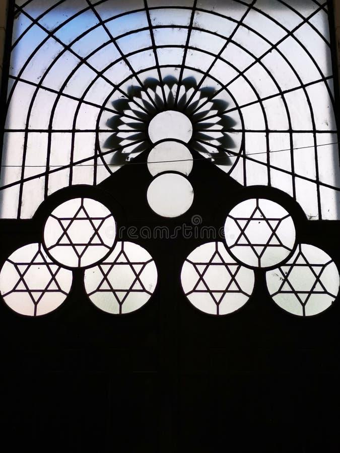 Żydowscy symbole - gwiazda dawidowa obraz stock