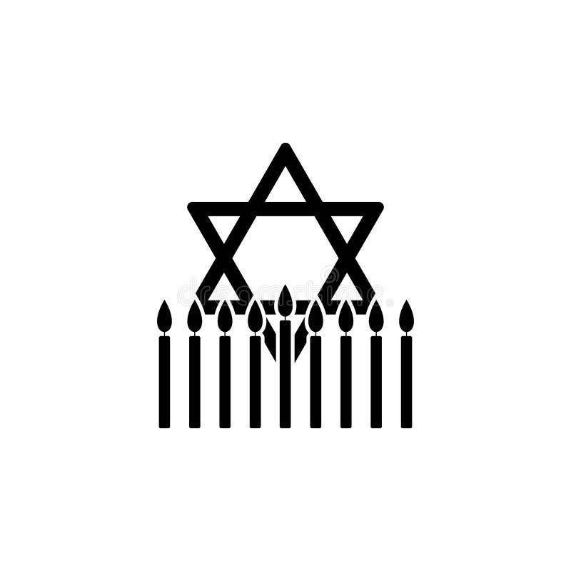 żydowska gwiazdowa Hanukkah ikona Element Hanukkah ikona dla mobilnych pojęcia i sieci apps Szczegółowa żydowska gwiazdowa Hanukk royalty ilustracja