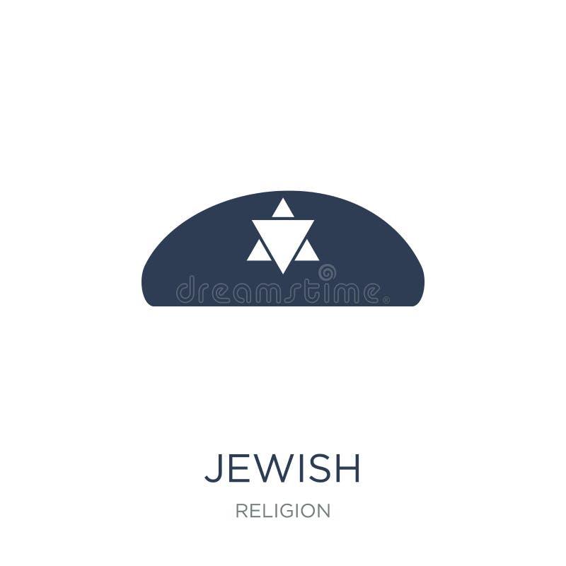 Żydowska ikona Modna płaska wektorowa Żydowska ikona na białym tle ilustracji