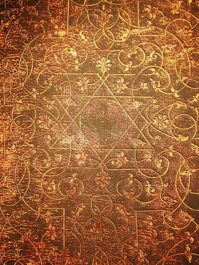 Żydowski symbol stara książkowa pokrywa fotografia royalty free
