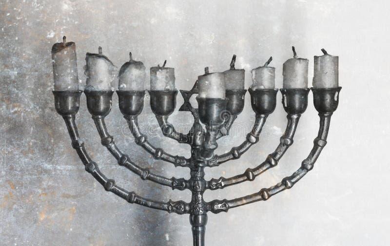 Żydowski wakacyjny Hanukkah i swój sławny rozgałęziający się menorah fotografia stock