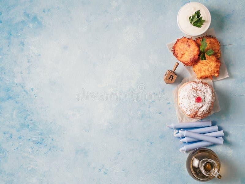 Żydowski wakacyjny Hanukkah pojęcia tło zdjęcia royalty free