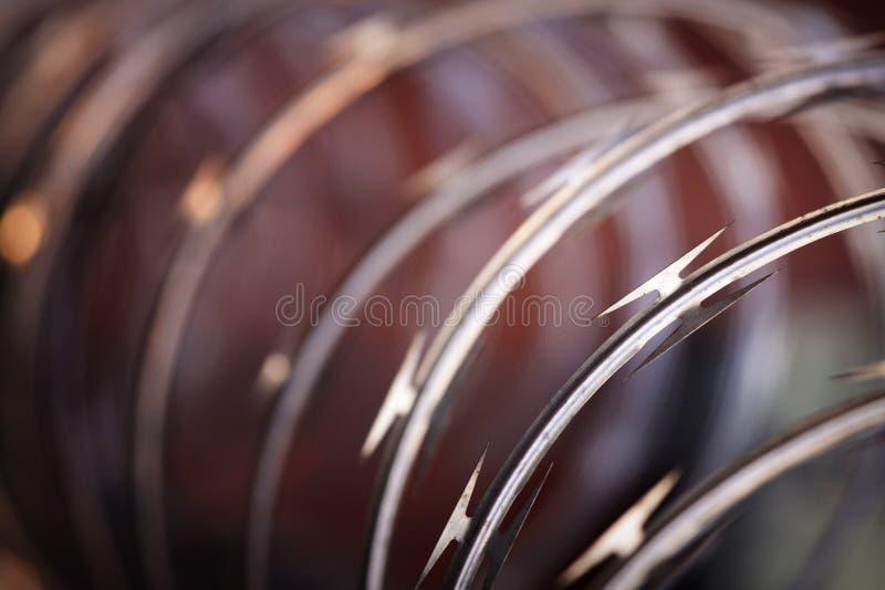 żyletka horyzontalny drut obrazy stock