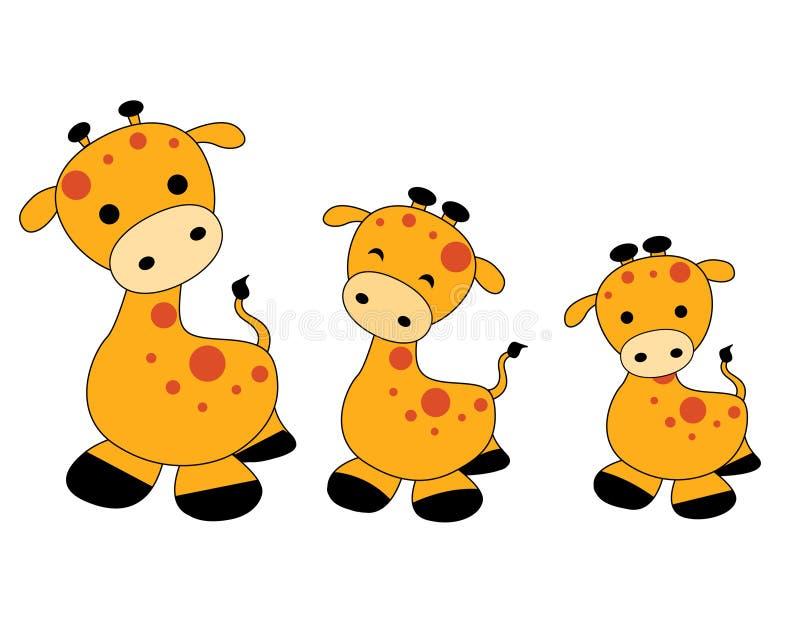 żyraf żyrafy royalty ilustracja