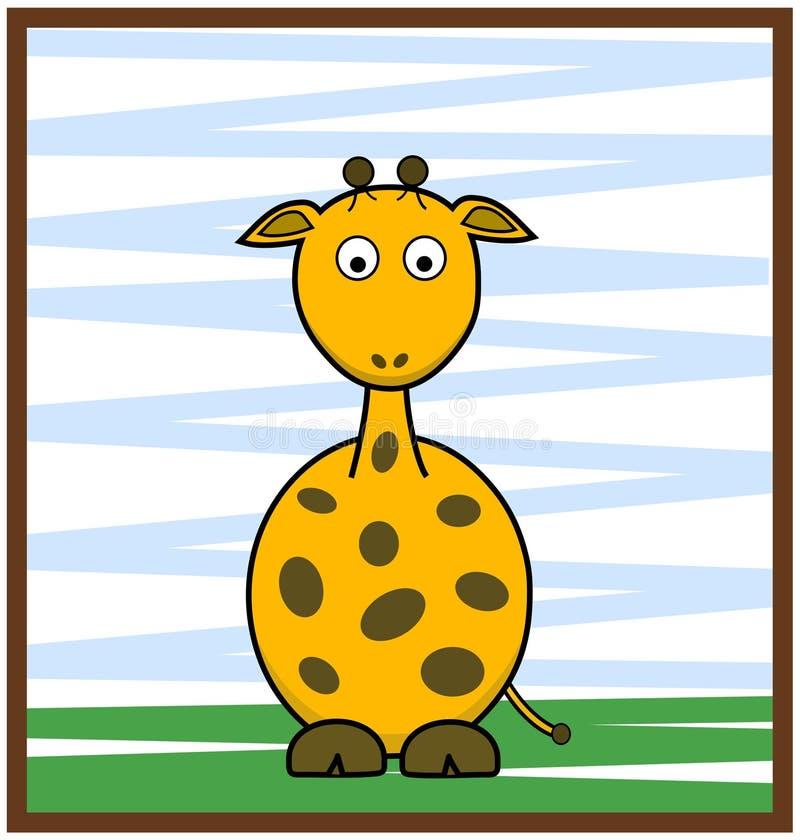 Żyrafa wektoru ilustracja obraz stock