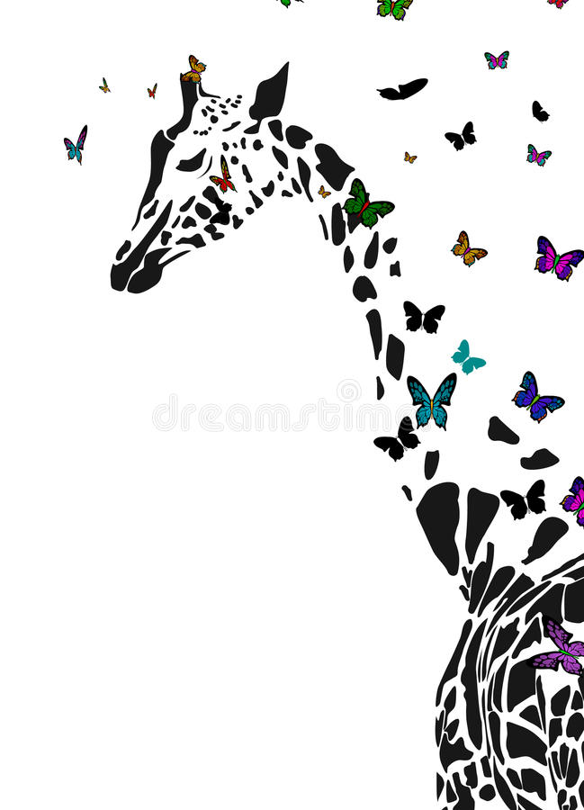 żyrafy ilustracji