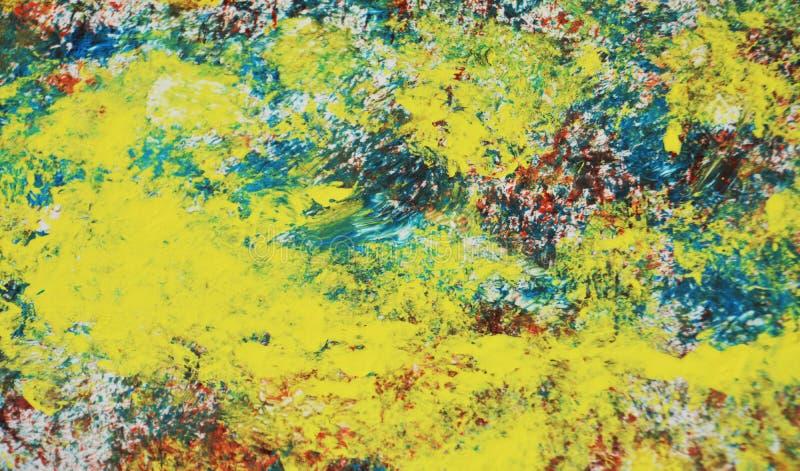 Żywa kolorowa farby akwareli tekstura, tło, abstrakcjonistyczna tekstura i wzór, zdjęcia stock
