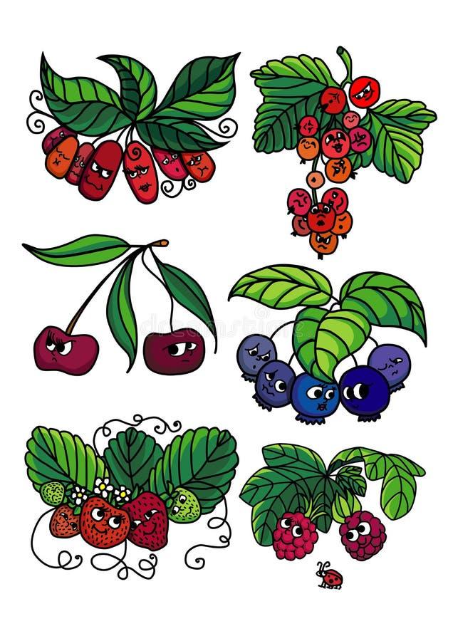 Żywe jagody ilustracja wektor