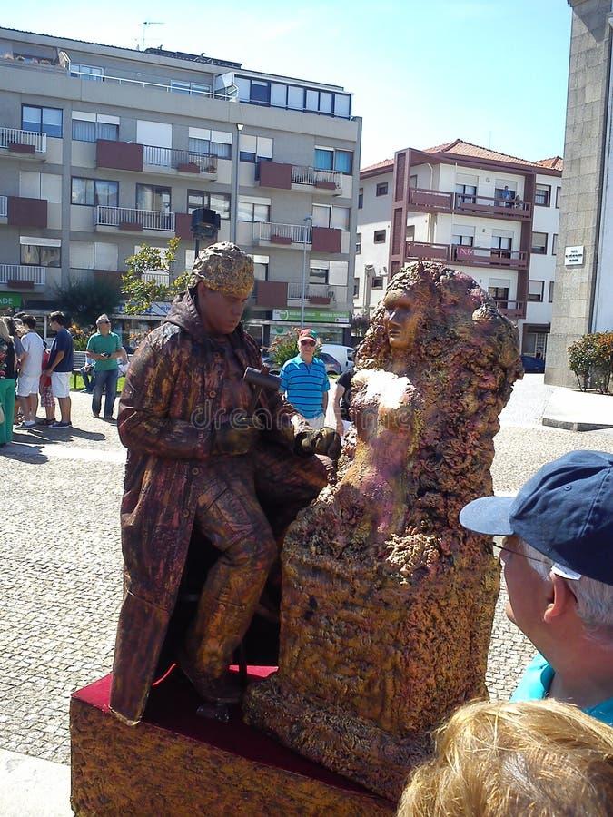 Żywe statuy w Espinho, Portugalia obraz stock