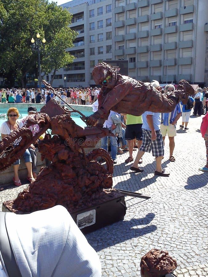 Żywe statuy w Espinho, Portugalia zdjęcie stock