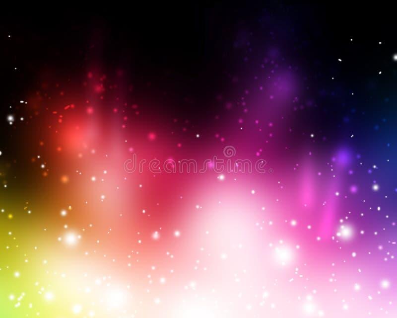 żywi abstrakcjonistyczni piękni jaskrawy kolorowi światła royalty ilustracja