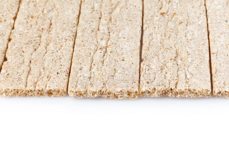 Żywienioniowi susi chlebowi kije pojedynczy bia?e t?o Dieta, zdrowie przek?ska i jedzenie i obrazy stock