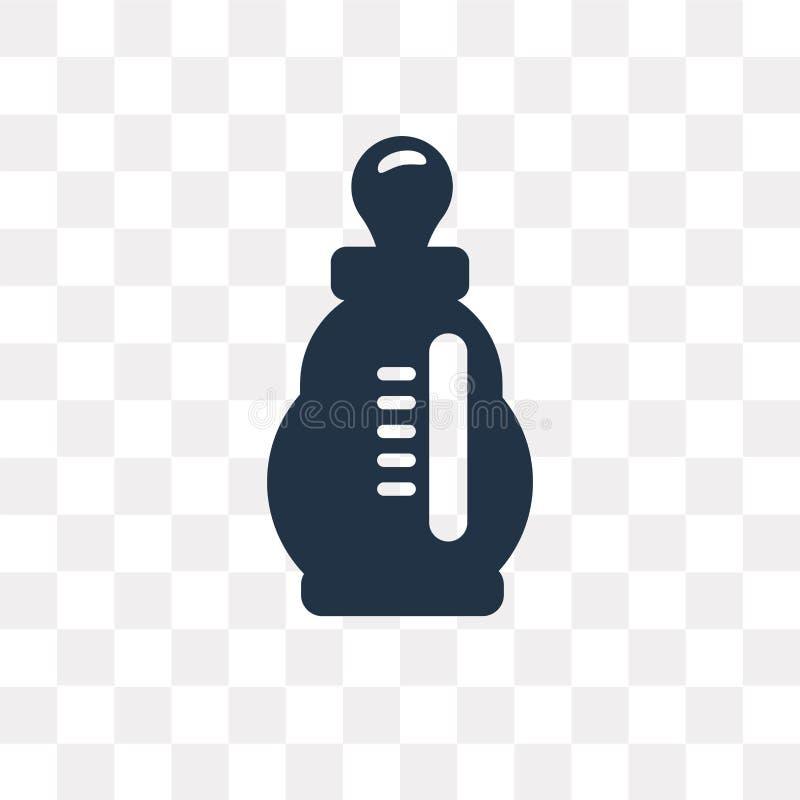 Żywieniowa butelka wektorowa ikona odizolowywająca na przejrzystym tle, F ilustracja wektor