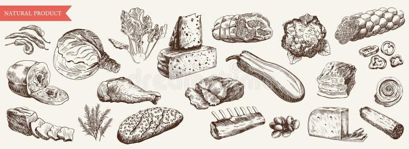 żywność royalty ilustracja