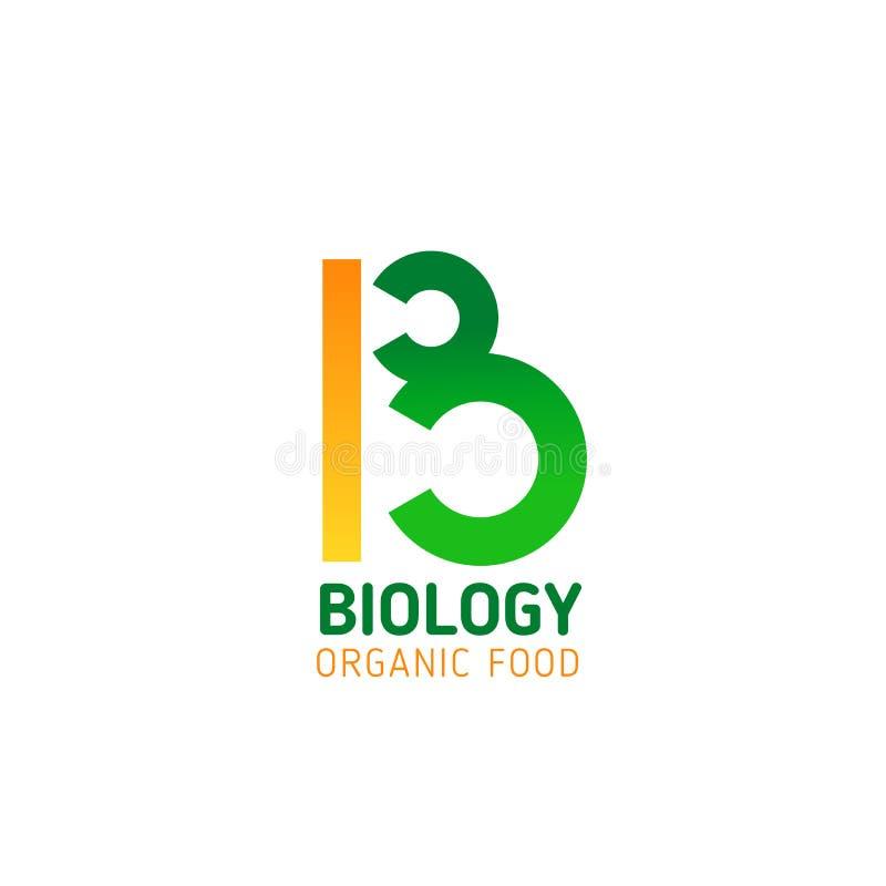 Żywności organicznej firmy wektoru listu b ikona ilustracji
